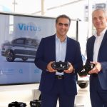 Pablo Di Si, presidente e CEO da VW América Latina (à esq.),  e Thomas Zahn, presidente da VW Argentina.