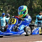 Firás Fahs foi destaque no Brasileiro de Kart, conquistando o quarto lugar na categoria Cadete.