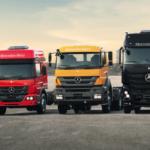 Caminhões Mercedes-Benz.