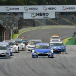Largada da primeira corrida em Interlagos.