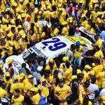 Na reta de chegada, foi iniciada a comemoração do título de Daniel Serra.