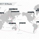 Rota Volvo Ocean Race 2017-2018.