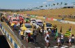 Grid de largada para prova que teve bom público no Autódromo Ayrton Senna.