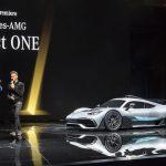 Dr. Dieter Zetsche, Daimler AG e Mercedes-Benz Car e o piloto de Fórmula 1 Lewis Hamilton falaram sobre o Showcar Mercedes-AMG Project ONE.