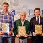 Os premiados Miguel Beux, Danilo Afornali e Milton Sperafico.
