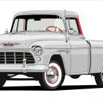 1955 Chevrolet Serie 3124.