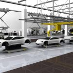Porsche Taycan, linha de montagem.