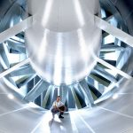 Novo túnel de vento: ventilador tem oito metros de diâmetro.
