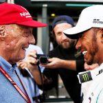 Niki Lauda e Lewis Hamilton.