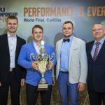 """Equipe """"Viies Ratas"""", da Estônia, vencedora da edição 2017/2018 do VISTA."""