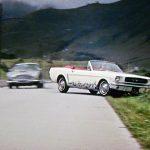 Ford Mustang Conversível em 007 Goldfinger - 1964.