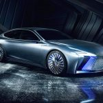 LS + Concept é apresentado ao mundo pela Lexus durante o 45º Salão Internacional do Automóvel de Tóquio 2017.
