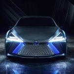 Assinatura Lexus é expressa no conceito LS + por faróis parcialmente iluminados a laser.