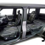 Assentos dianteiros e traseiros do Tj Cruiser podem ser reclinados completamente para a posição horizontal, possibilitando ainda mais espaço para armazenar itens grandes de até três metros de comprimento.