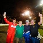 Bley Jr., Tumiate (chefe de equipe) Ferreira e Moreira: campeões.