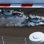 Fritada de pneus que custou caro para Nico Rosberg.