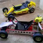 Dois modelos de kart que estarão na prova.