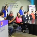 Coletiva de imprensa de autoridades, dirigentes e pilotos da Fórmula Truck no Centro de Gobierno de Córdoba.