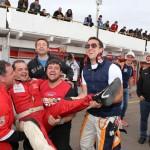 Paulo Salustiano comemorando sua quarta pole position com a ABF Racing Team.