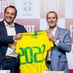 Antonio Filosa (FCA) e Rogério Caboclo (CBF).